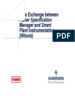 Smart Plant Instrumentation and Fisher Specification Manager