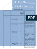 body weight exercise task