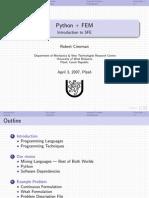 Cimrman Python Fem 04-03-2007