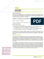 Disasters Fact Sheet