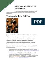 PROGRAMACIÓN MUSICAL EN ASTURIAS 2008-09