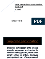 Employee Involvement Participation n Empowerment