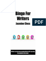 Bingo for Writers