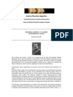 Sobre Croce Benedetto . Ricardo Orzezko