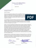 Texas Delegation Letter to President Obama on Land Investment