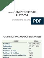 Complemento Tipos de Plasticos