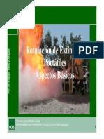Charla Rotulacion de Extintores y Aspectos Basicos