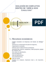 RESOLUCIÓN DE CONFLICTOS HERE & NOW