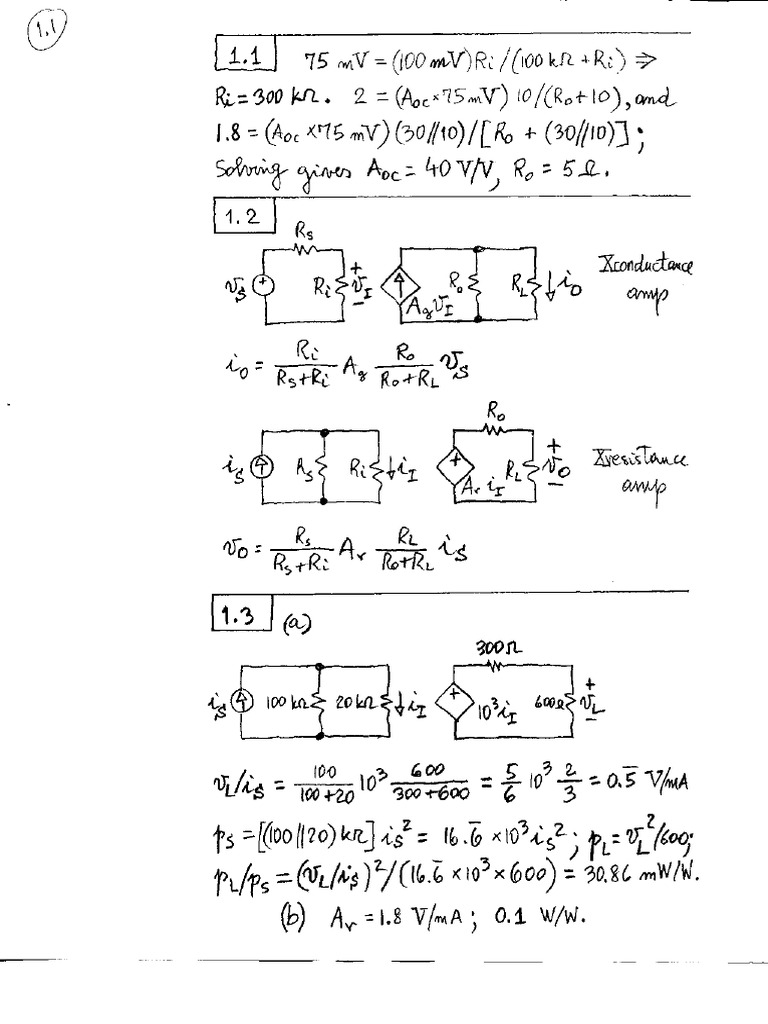 Sergio Franco - Design With Operational Amplifier And Analog Integrated  Circuit 3Rd Ed By Sergio Franco - Solution Manual.pdf