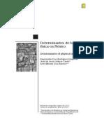 Cruz Et Al 2012. Determinantes de La Actividad Fisica en Mexico