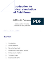 Introduction to numerical simulation of fluid flows