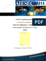 AIESEC Code Des Obligations - Explication