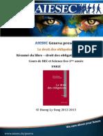 AIESEC Droit  des obligations Tercier - résumé du livre