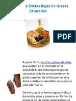 6 Planes de Dietas Bajas en Grasas Saturadas