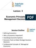 Economic Principles and Management Decision Making