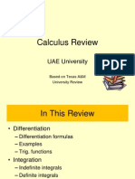 Calculus Review