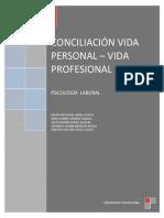 CONCILIACIÓN VIDA PERSONAL - VIDA PROFESIONAL