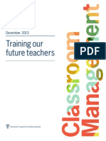 NCTQ_Report Classroom Management