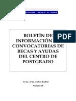 Boletin Postgrado n20 Becas y Ayudas