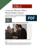10-12-2013 Milenio.com - Inauguran Moreno Valle y Wayne Pueblo Táctico