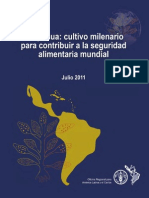 Quinua cultivo milenario para contribuir a la seguridad alimentaria mundial