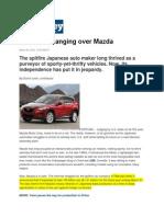 Mazda Research Article 2