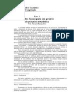 Roteiro básico para um projeto de pesquisa estatística