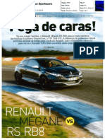 RENAULT MÉGANE R.S. RED BULL RACING RB8 FRENTE AO VW GOLF GTI PERFORMANCE NA AUTO FOCO SPORTSCARS