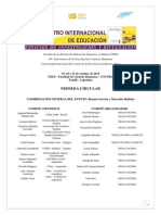 Primera Circular - i Encuentro Internacional de Educación