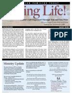 Living Life Newsletter Fall 2013