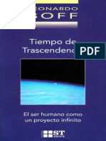 BOFF, L., Tiempo de Transcendencia. El Ser Humano Como Un Proyecto Infinito, 2a. Ed., Sal Terrae, Santander 2002