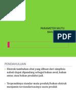 Parameter Mutu Ekstrak