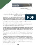 Federal Deficit Explodes to $9 Trillion; Buchanan Balanced Budget Amendment Needed