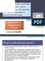 Soya Food Intake and Risk of Endometrial Cancer