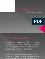 character analysis essay construction