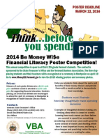 2014 Financial Literacy Poster Contest Flyer