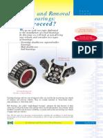 Change procedure of hub bearings