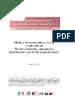 Modelo Economia Cultural y Patrimonio
