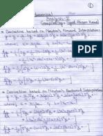 Numerical Analysis Formulae