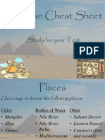 ancient egypt cheat sheet