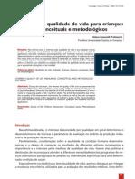QV INFANTIL 2003 Medidas de QV para crianças - Aspectos conceituais e metodológicos