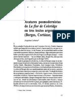 Avatares Posmodernistas de La Flor de Coleridge en Tres Textos Argentinos (Borges, Cortazar, Piglia)