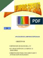 APLICACIÓN DE LÁMPARAS ESPECIALES