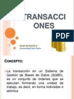 Transacciones Unversidad San Pedro
