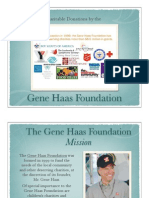Gene Haas Foundation Charitable Donations