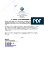 29th Annual Traffic Safety Awards Lunch