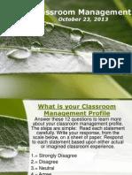 Classroom Management October 22 2013