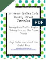 Reading Street Spelling Lists