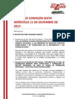 Agenda comisión sexta dic 11