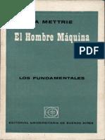 La Mettrie - El hombre máquina